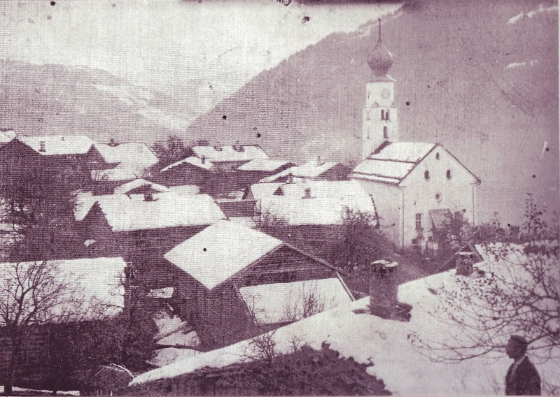 Kirche im Winter 1912