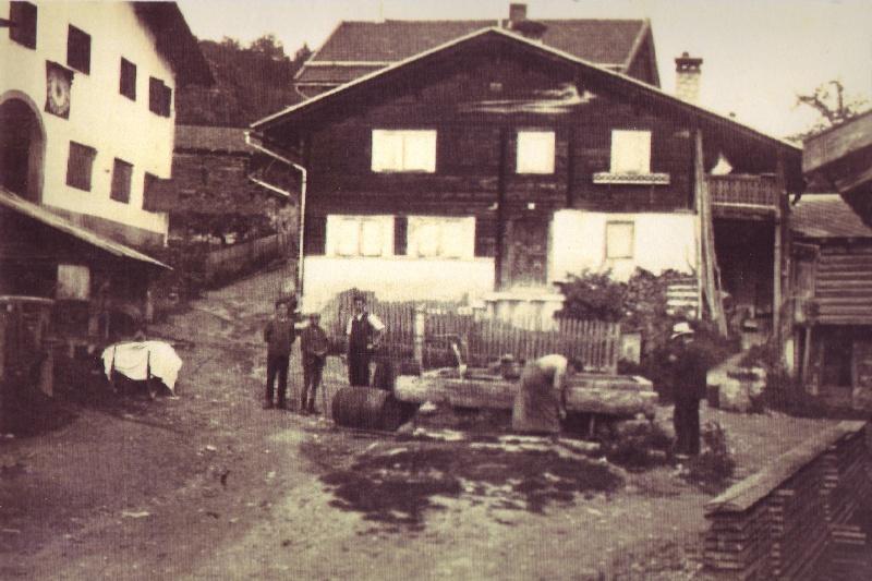 Dorfplatz im Jahre 1923