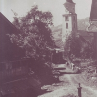 Dorfplatz um 1940